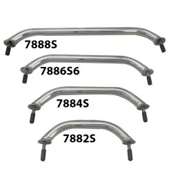 Acelane Boat Handrail Stainless Steel 10 Oval Grab Handle Polished Marine Fittings Deck Hardware with Flange/& Stud 8-5//8 Center on Center